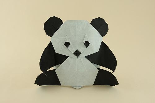 patrulha panda origami panda