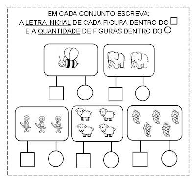 letra+e+quantidade+na+forma+geom%C3%A9trica ATIVIDADE VOGAIS E QUANTIDADE para crianças