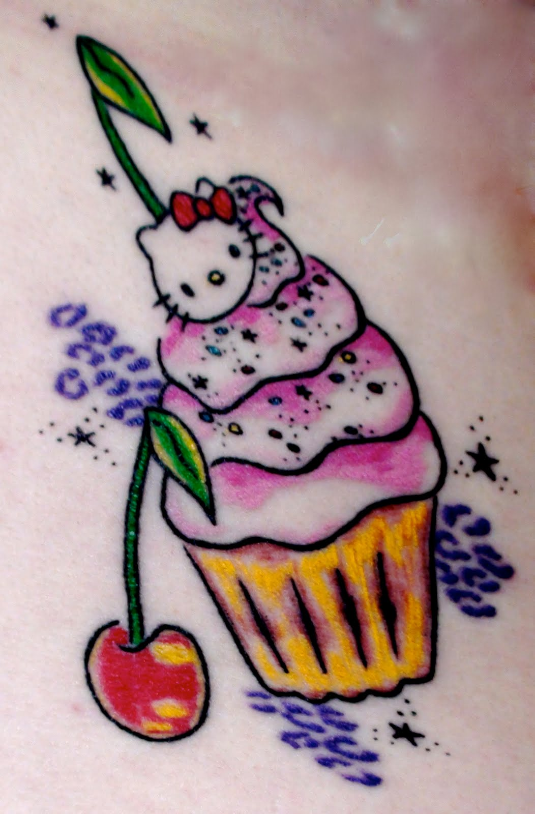 Hello Kitty Cupcake Tattoo