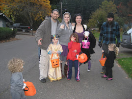 Rich, Breana, and the kiddies! On Halloween with friends!