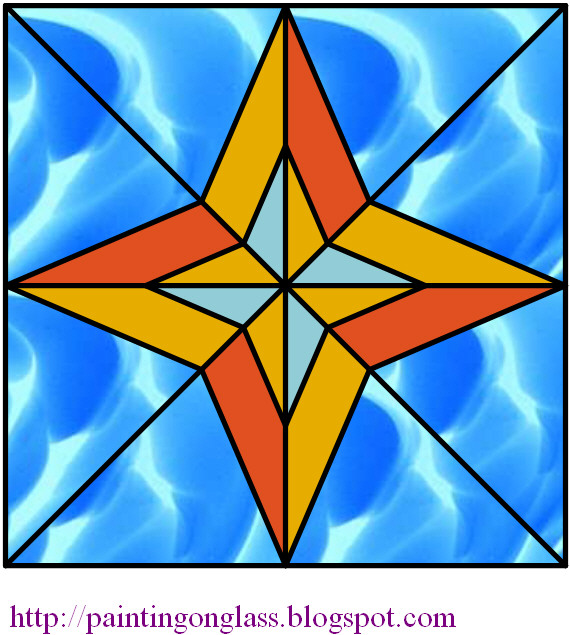 Star stained glass pattern pattern collections for 3d star net