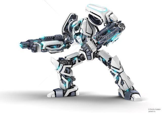 Guardor 3d robot by jossdiim 30 Awesome 3D Robots Illustrations
