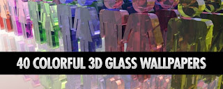 Colorful 3D Glass Wallpapers