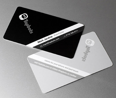 Cool Black White Business Cards