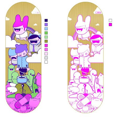 Stunning Creative Skateboard Graphics