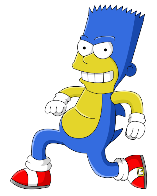 Bart as Sonic the Hedgehog