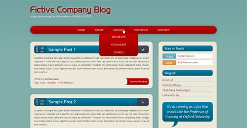 Build a HTML5/CSS3 Website Layout Without Images