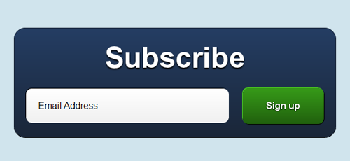 Create a pixel perfect subscription box using CSS3