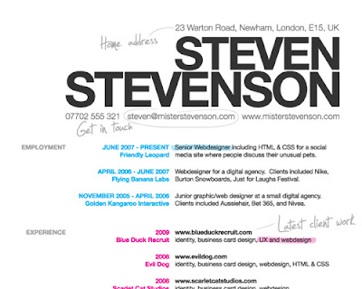 How To Create A Great Web Design CV