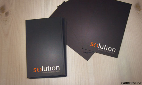 Seolution Design business card