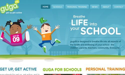 Gugafit Kid Website Design