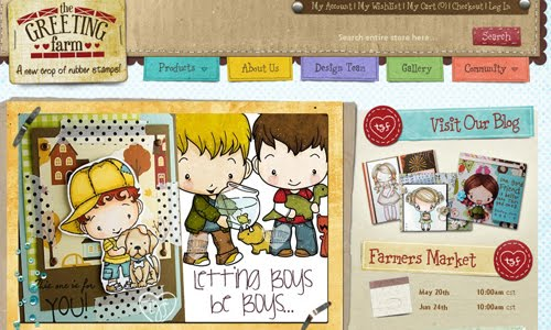 The Greeting Farm Kid Web Design