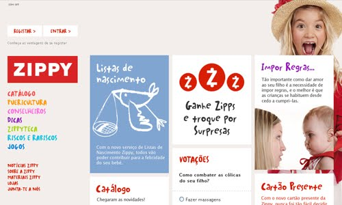zippy kid website design