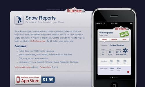 Snow Reports web design