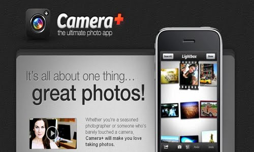 Camera iphone web design