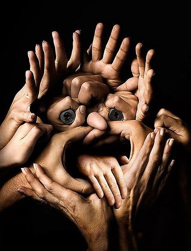 Face of hands