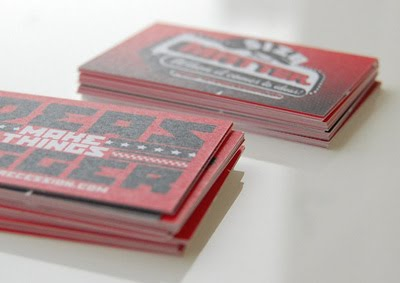 Undersized Recession Business Cards 3