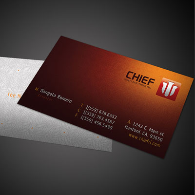 Chief Business Card Design