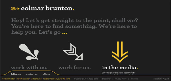 Colmar Brunton web design
