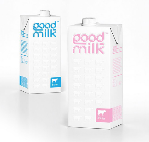 Good Milk packaging