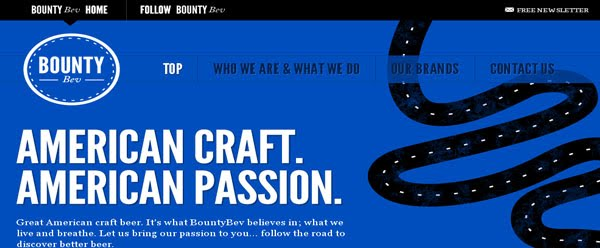 BountyBev web design