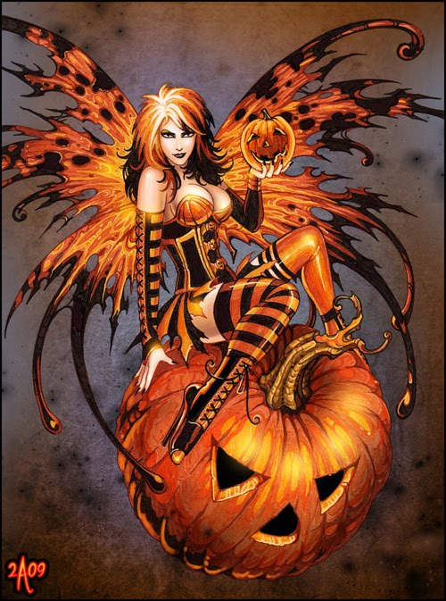 Fairy of Halloween Pumpkin