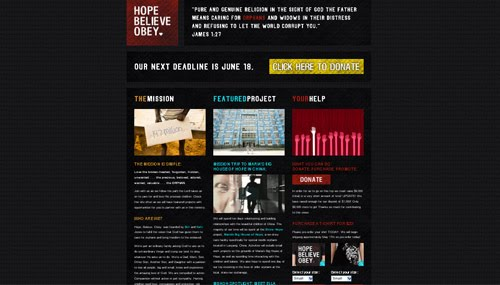 hope believe obey web design