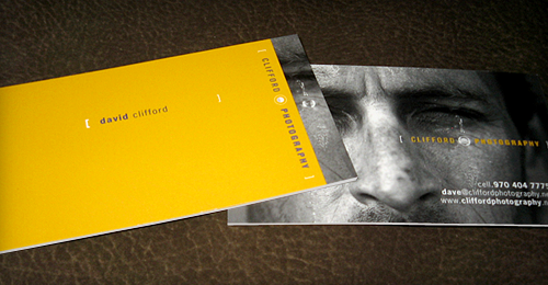 David Clifford Photography Business Cards