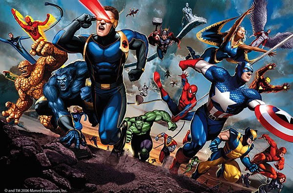 Marvel Heroes Charge by Scott Johnson