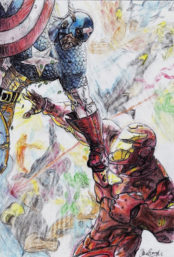 Marvel Civil War by delboysb91