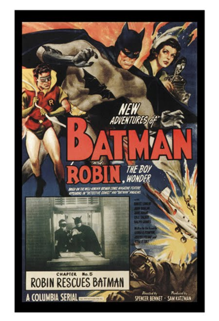 Batman Robin Retro Movie Poster