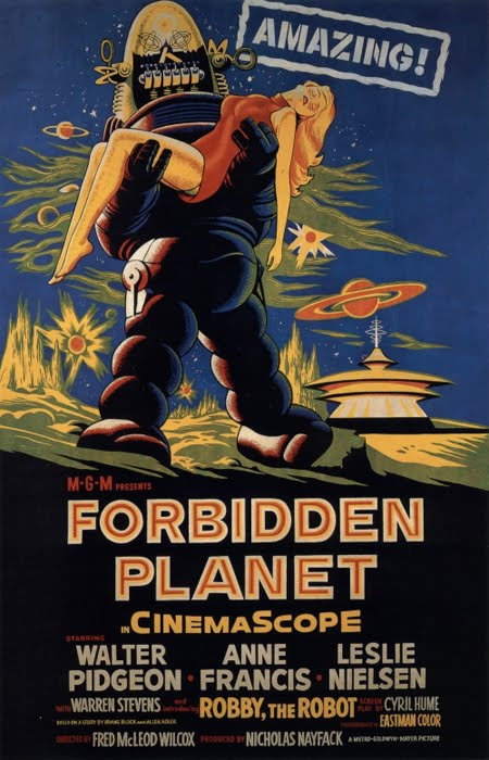 Forbidden Planet retro poster