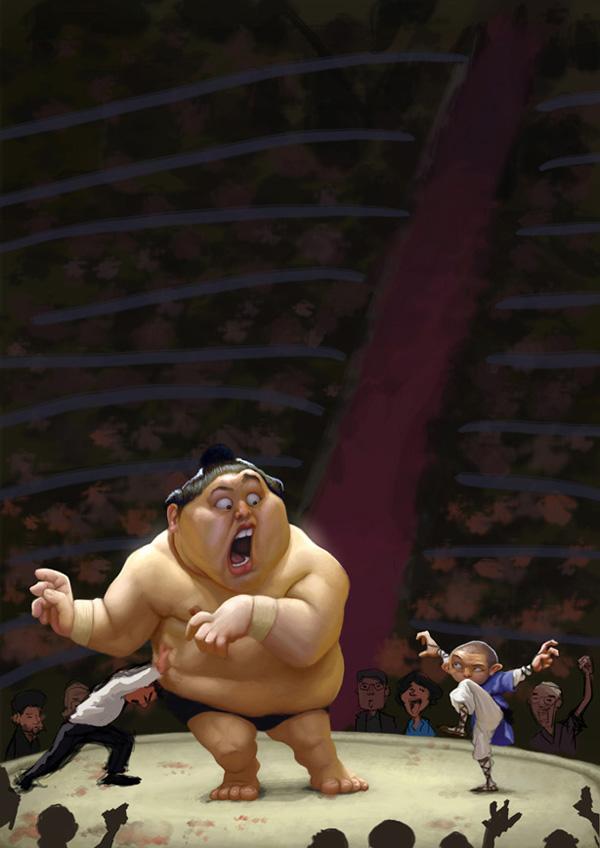 sumo caricature