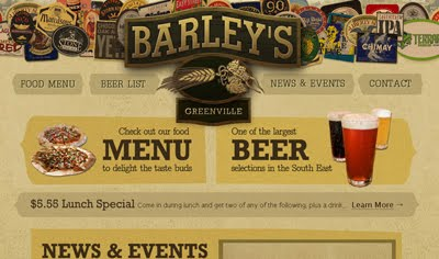 Barley's Greenville web design