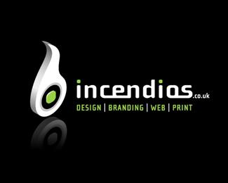 Incendios Logo Design