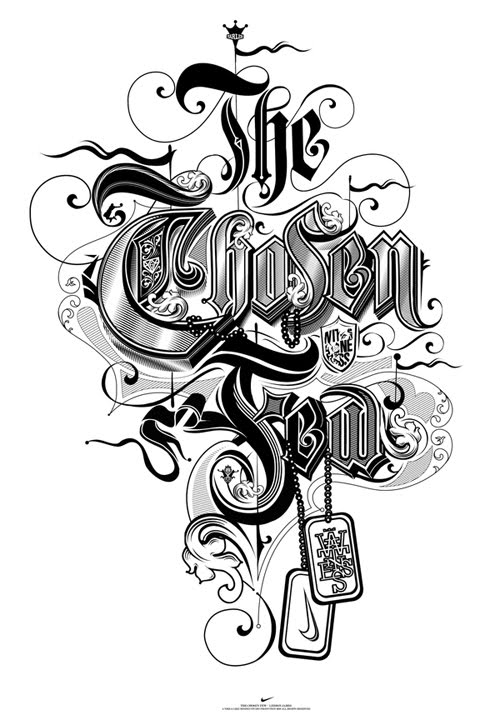 The Chosen Few Typography black and white typography