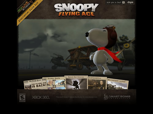 Snoopy Flash Website