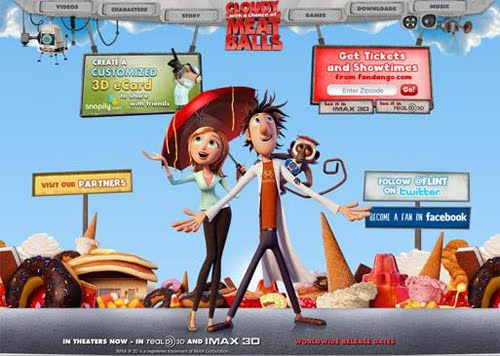 Chance of Meatballs Flash Website