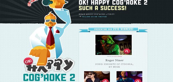 Happy Cog'aoke 2 Web Design
