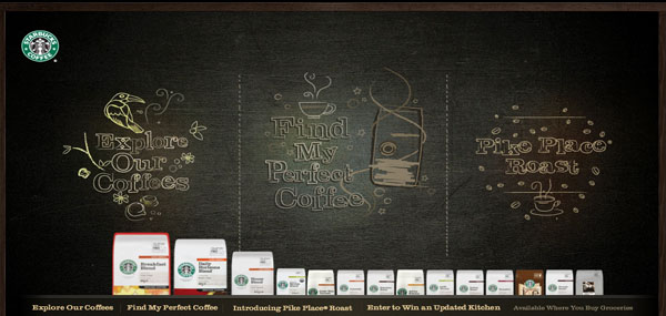 Starbucks Coffee at Home Web Design