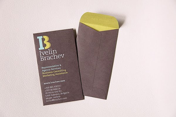 Business card small envelope