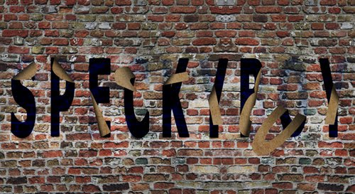 Falling Off the Wall Text Effect
