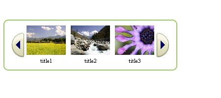 Amazon style image and title scroller with jQuery