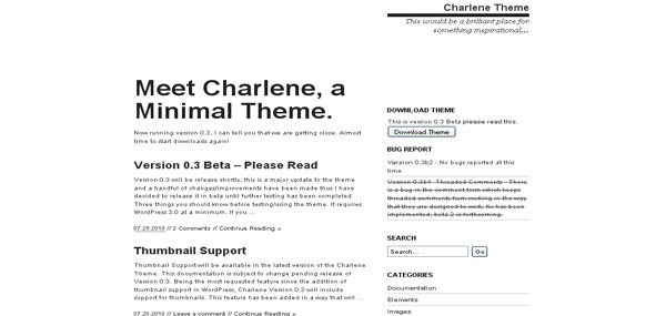 Charlene Theme