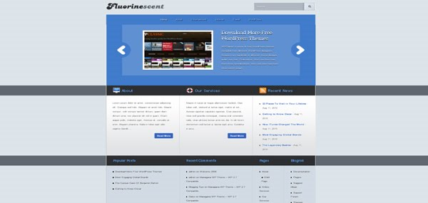 WordPress Theme: Fluorinescent