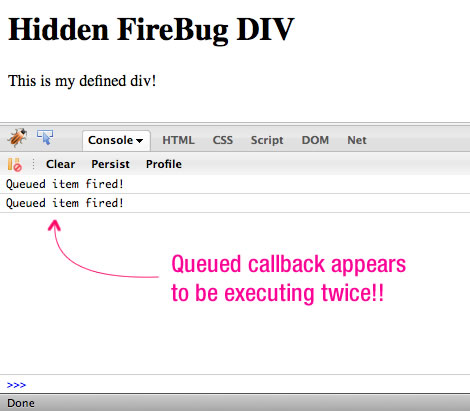The Firebug Plugin Inserts A Hidden DIV Element