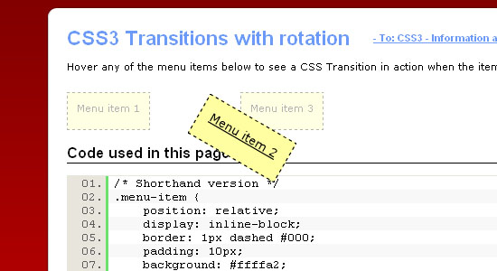 Using CSS3 Transitions to create rich effects