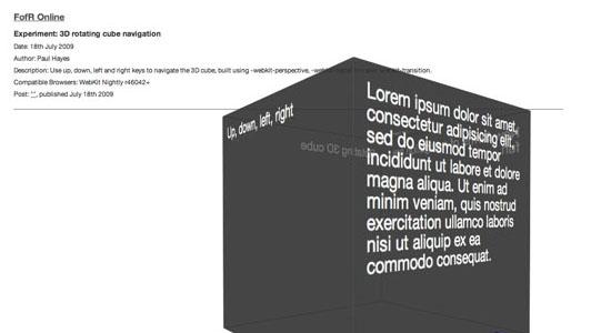 CSS3 3D Tutorials & Demos