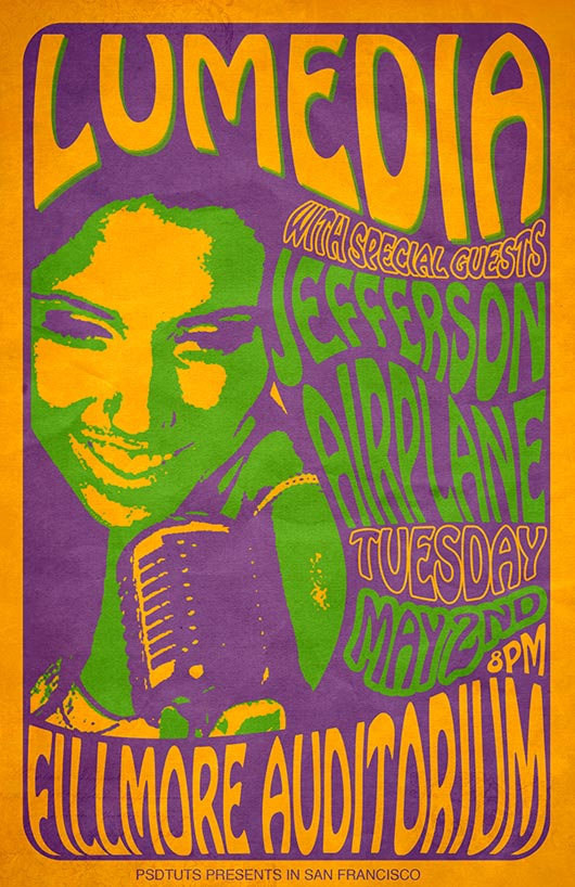Create a 60s Psychedelic Style Concert Poster