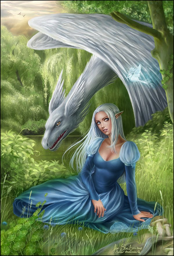 Aliele and the Furry Dragon artwork
